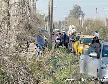 Linares: Un lesionado en volcamiento de vehículo camino a Yerbas Buenas - Diario El Heraldo Linares