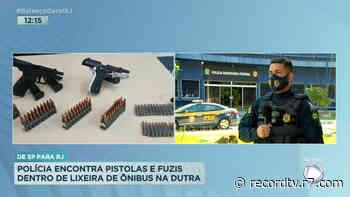 Polícia apreende armas e munições em lixeira de ônibus em Itatiaia (RJ) - Record TV