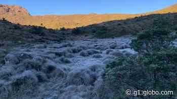 Parque Nacional do Itatiaia tem mais um dia de temperatura negativa e geada - G1