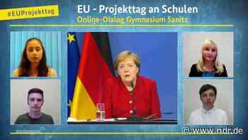 Gymnasium Sassnitz: Bundeskanzlerin Merkel virtuell zu Gast - NDR.de