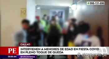 Callao: Intervienen a menores de edad en fiesta COVID - El Comercio Perú