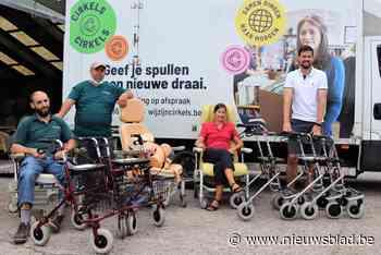Fietsatelier herstelt en verkoopt afgeschreven, oude rolstoelen