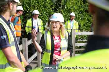 Mims Davies MP praises Yorkshire Water after Esholt visit