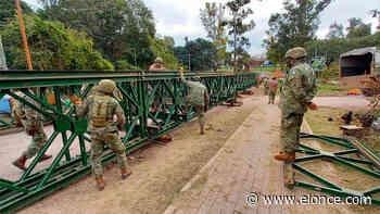 Instalan el puente Bailey en el ingreso al camping de Piedras Blancas - Elonce.com