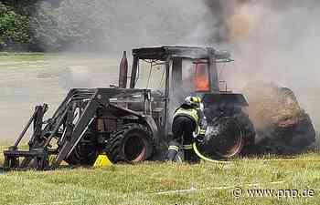 Technischer Defekt: Bulldog fängt Feuer und brennt komplett aus - Passauer Neue Presse