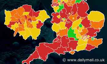 Covid outbreaks growing in 90% of areas in England but rates SHRINKING in Indian variant hotspots