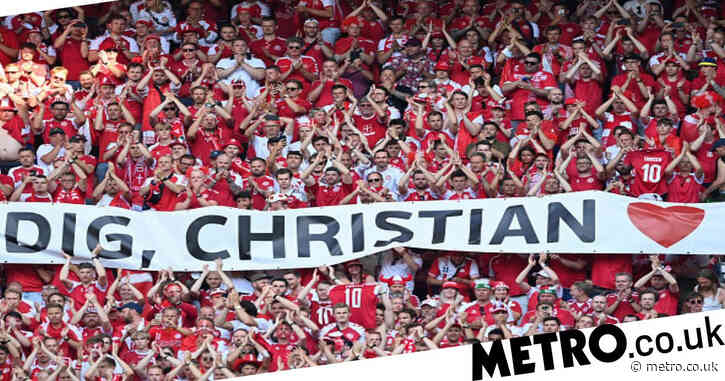 Belgium and Denmark stop game in 10th minute to applaud Christian Eriksen at Euro 2020