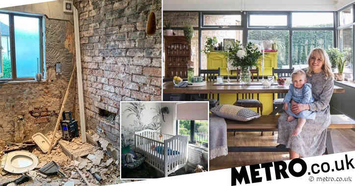 Pregnant mum-of-four carries out DIY house renovation that adds £145,000 to her home's value