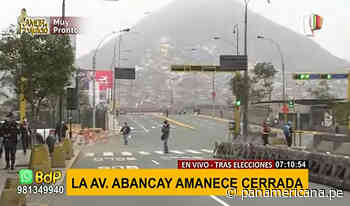 Cercado de Lima: avenida Abancay amanece cerrado al tránsito | Panamericana TV - Panamericana Televisión