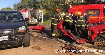 Presa mulher envolvida em acidente na BR-386, em Lajeado - GauchaZH