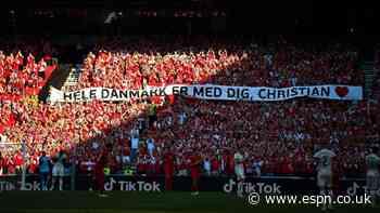 Denmark-Belgium paused to pay Eriksen tribute