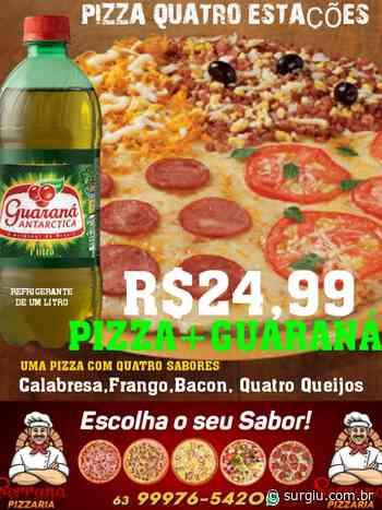 Serrana anuncia pizza grande com guaraná por R$ 24,99 - Surgiu