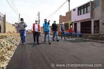 Briceño supervisó avance de obras que ejecuta la municipalidad en beneficio de la población - Diario Digital Chimbote en Línea