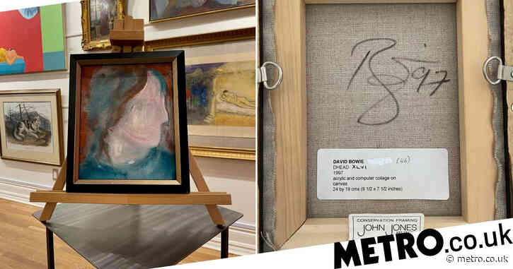 David Bowie painting bought for £2.91 in charity shop to be sold for £23,000