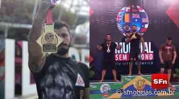 É ouro: Atleta de Cambuci sobe ao pódio em campeonato mundial de Jiu-Jitsu - SF Notícias