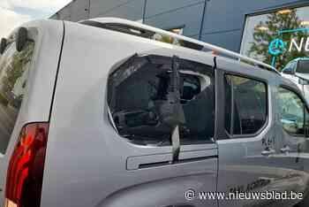 Agressieve en dronken klant vernielt taxi (Kortrijk) - Het Nieuwsblad