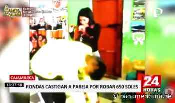 Cajamarca: ronderos castigan a chicotazos a pareja por robar dinero - Panamericana Televisión