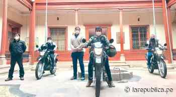 Corte de Cajamarca adquiere tres motocicletas para el área de Notificaciones - LaRepública.pe
