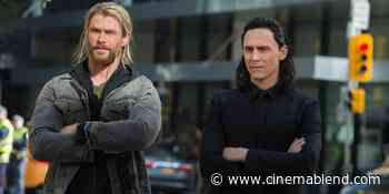 The Classic Thor: Ragnarok Scene Tom Hiddleston, Taika Waititi And Chris Hemsworth Made Up On The Spot - CinemaBlend