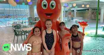 """Zwembad in Sint-Truiden met virtuele waterglijbaan eindelijk open: """"Heel leuk en spannend!"""" - VRT NWS"""