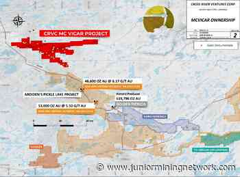 Cross River Ventures Completes Lidar Survey at the McVicar Gold Project, NW Ontario, Canada - Junior Mining Network