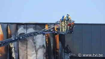 Bedrijfsbrand in Dilsen-Stokkem zorgt voor enorme rookontwikkeling - TV Limburg