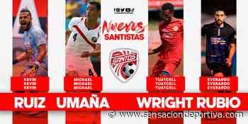 Michael Umaña y Yuaycell Wright destacan dentro de los refuerzos del Santos. - sensaciondeportiva.com