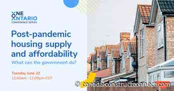 One Ontario spotlights affordable housing crisis - constructconnect.com - Daily Commercial News
