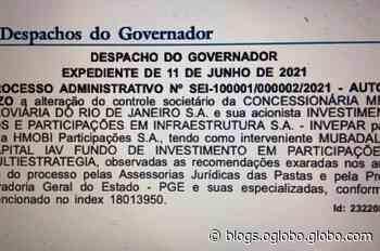 O governador Claudio Castro autoriza o fundo Mubadala a assumir o metrô do Rio no lugar da Invepar - Jornal O Globo