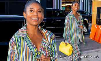 Gabrielle Union cuts an eye-catching figure while stepping out solo in New York City