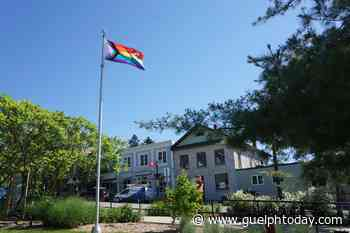 Pride flag flies at Elora's new community flag pole - GuelphToday