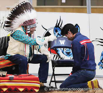 F.P. Walshe graduating students receive eagle feather blessing - Macleod Gazette Online