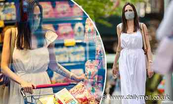 Angelina Jolie buys groceries as she spends time at ex Johnny Lee Miller's apartment in New York