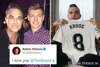 Toni Kroos and Robbie Williams' bizarre bromance from gushing tweets to plea for Germany star to join Man U... - The Irish Sun