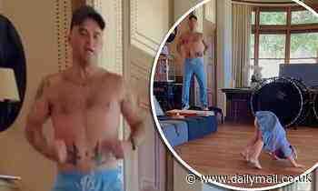 Robbie Williams keeps up with his fitness regime as he works out alongside his daughter Coco - Daily Mail
