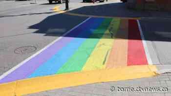 Orangeville pride crosswalk defaced along with alley behind library - CTV Toronto
