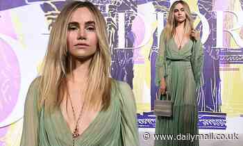 Suki Waterhouse looks incredibly chic at the Dior Cruise fashion show in Athens