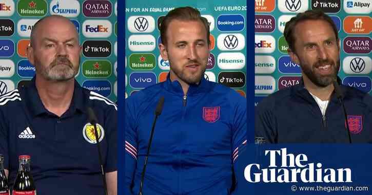 Steve Clarke, Harry Kane and Gareth Southgate look ahead to England v Scotland – video