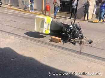 Motociclista fica ferido em acidente no Centro de Varginha na tarde desta quarta-feira - Varginha Online