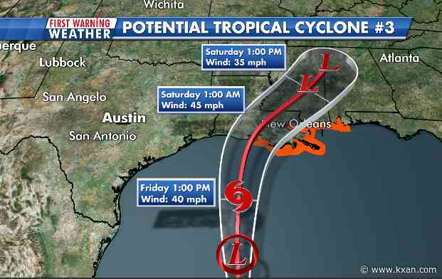 Tropical system developing in the Gulf as heat builds locally