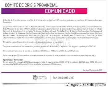 Este jueves se registraron 463 casos de Coronavirus - Agencia de Noticias San Luis