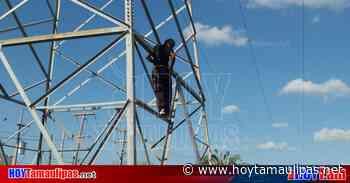 "Veracruzano se ""trepa"" a torre de la CFE en Matamoros a agarrar aire fresco - Hoy Tamaulipas"
