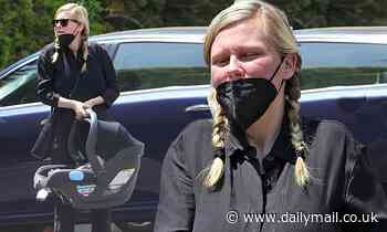 PICTURE EXCLUSIVE: Kirsten Dunst is seen for the first time since giving birth to her second child
