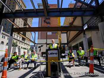 City holds topping-out ceremony for future ballroom