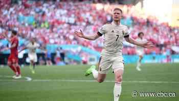 De Bruyne sparkles as Belgium beats Denmark, teams pause for Eriksen tribute