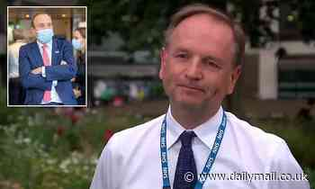 NHS chief Simon Stevens squirms and refuses to answer when asked if he thinks Hancock is 'hopeless'