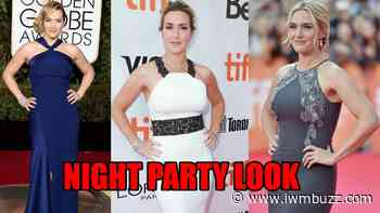 Kate Winslet Long Gowns With Halter Neck Is A Calling For Night Party - IWMBuzz