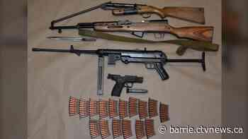 Submachine gun, assault rifle among weapons seized in Innisfil - CTV News Atlantic