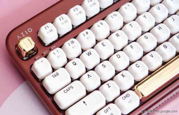 AZIO IZO mechanical wireless keyboard set features control knob and more