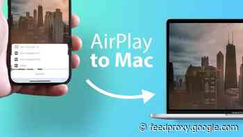 macOS Monterey AirPlay to Mac shown off on video